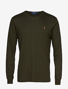 Custom Slim Interlock T-Shirt - long-sleeved t-shirts - estate olive