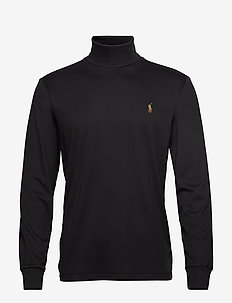 LSTURTLEM1-LONG SLEEVE-KNIT - polokrage - polo black