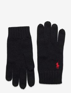 Signature Pony Wool Gloves - POLO BLACK