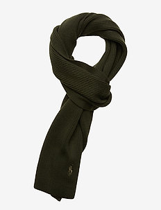 Signature Pony Wool Scarf - OIL CLOTH GREEN