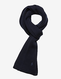 Signature Pony Wool Scarf - PIPER NAVY