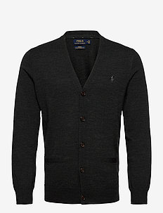 LS SF VN CRD-LONG SLEEVE-SWEATER - cardigans - dark granite heat
