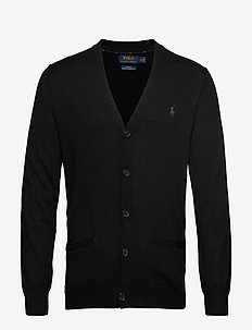 LS SF VN CRD-LONG SLEEVE-SWEATER - POLO BLACK