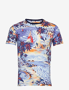 Custom Slim Fit T-Shirt - BLUE HAWAIIAN BEA
