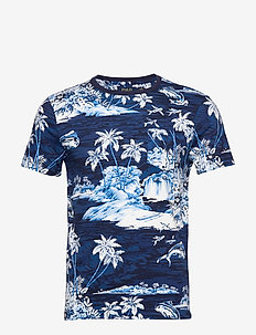 Custom Slim Fit Tropical Tee - FLYING FISH