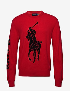 LSCNBIGPP-LONG SLEEVE-SWEATER - PARK AVE RED W/ B