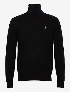 LORYELLE WOOL-LS TN - tricots basiques - black w/ gold pp