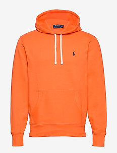 Fleece Hoodie - basic sweatshirts - bright signal ora