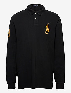 Custom Slim Long-Sleeve Polo - long-sleeved polos - polo black