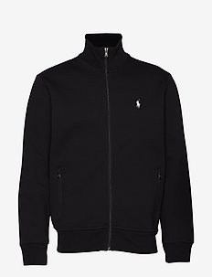 Double-Knit Track Jacket - POLO BLACK/CREAM