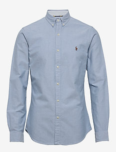 Slim Fit Oxford Shirt - basic shirts - bsr blue