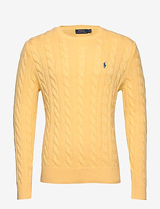 Cable-Knit Cotton Sweater - FALL YELLOW