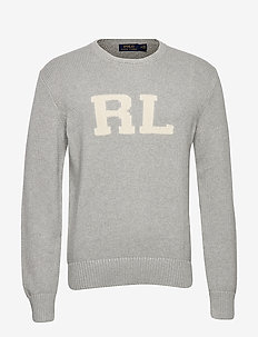 RL Cotton Sweater - ANDOVER HEATHER