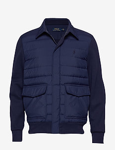 Hybrid Down Bomber Jacket - NEWPORT NAVY