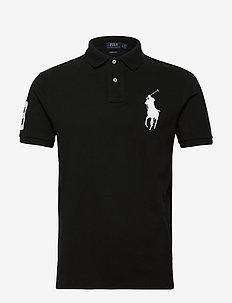 Custom Slim Fit Mesh Polo - kortärmade pikéer - polo black