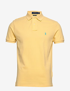 Custom Slim Fit Mesh Polo - kortermede - empire yellow/c61