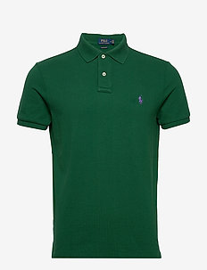 Custom Slim Fit Mesh Polo - NEW FOREST/C4649