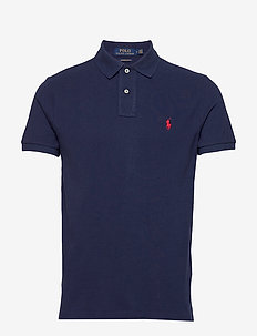 Custom Slim Fit Mesh Polo - krótki rękaw - newport navy/c387