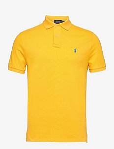 Custom Slim Fit Mesh Polo - kortärmade pikéer - yellowfin/c7370