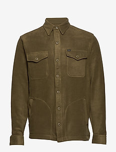Stretch Fleece Shirt Jacket - overshirts - defender green