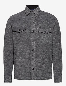 Stretch Fleece Shirt Jacket - oberteile - medium flannel he