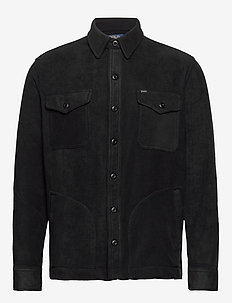 Stretch Fleece Shirt Jacket - POLO BLACK