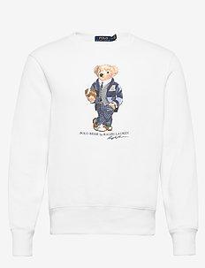 Polo Bear Fleece Sweatshirt - DECKWASH WHITE