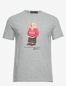 Custom Slim Fit Bear T-Shirt - ANDOVER HEATHER