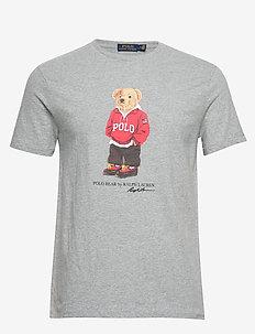 Custom Slim Fit Bear T-Shirt - printti t-paidat - andover heather