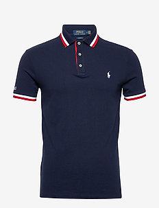 Slim Fit Mesh Polo Shirt - CRUISE NAVY MULTI