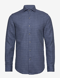 Slim Fit Plaid Shirt - rutede skjorter - 4393 blue heather