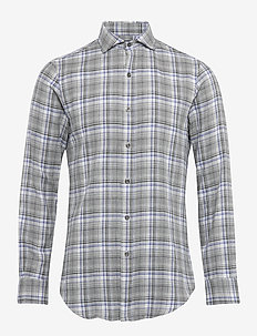 Slim Fit Plaid Shirt - ruutupaidat - 4395 grey heather
