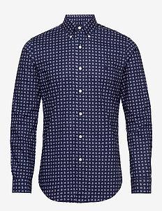 PRINT STRCH POPLIN-SL BD PPCSPT - avslappede skjorter - 4307 ocean foular
