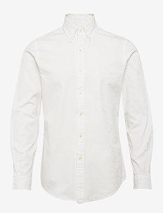 Slim Fit Floral Jacquard Shirt - avslappede skjorter - 4381b white tonal