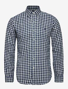 Slim Fit Checked Shirt - 4382 NAVY/CREAM