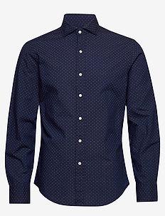 Slim Fit Indigo Dot Shirt - 4385 FOUR CORNERS