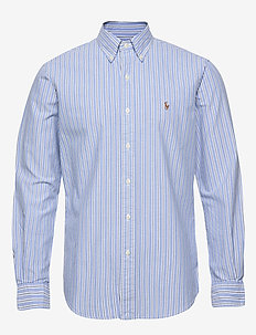 Custom Fit Striped Shirt - oxford shirts - 4331a blue/white