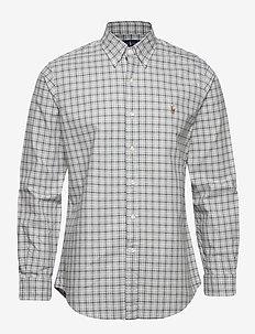Custom Fit Striped Shirt - oxford-skjorter - 4332 grey heather