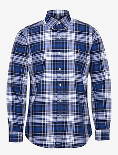 Custom Fit Striped Shirt - oxford-skjorter - 4336 blue/white m