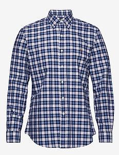 Custom Fit Striped Shirt - oxford shirts - 4337 white/blue m