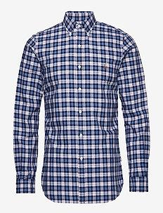 Slim Fit Oxford Shirt - casual shirts - 4337 white/blue m