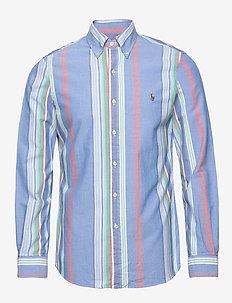 Slim Fit Oxford Shirt - 4339 BLUE/RED MUL