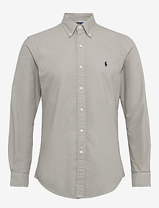 Custom Fit Oxford Shirt - grey fog
