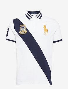 Custom Slim Fit Mesh Polo - WHITE