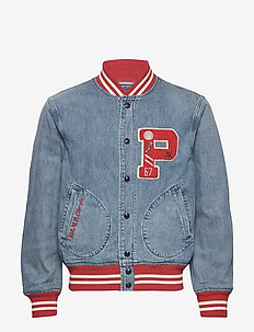 Denim Letterman Jacket - GRANTWOOD