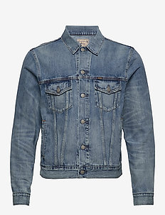 Faded Trucker Jacket - farkkutakit - lavine