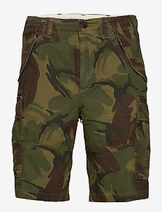 Classic Fit Camo Cargo Short - british elmwood c