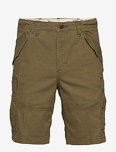 Classic Fit Camo Cargo Short - casual shorts - new olive