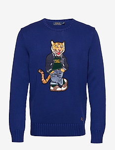 Polo Tiger Sweater - rundhals - heritage royal