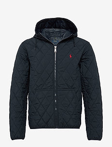 Quilted Hooded Jacket - COLLEGE NAVY